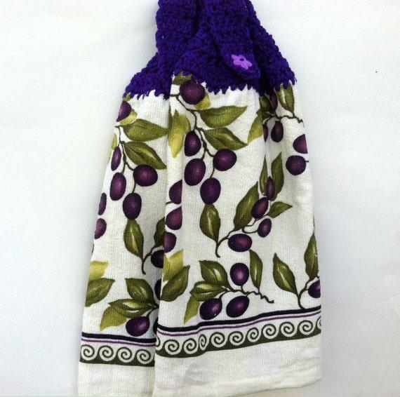 Tea Towels Kitchen With Crochet Tops New