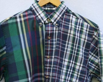 Medium Gant Foxhunt Plaid Men's Short Sleeve Shirt
