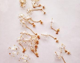 PUNTINI - Polka dot bubble earrings