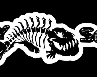Salty Souls Angry Fish Logo Sticker Decal Beach Surfing Fishing Salt Life