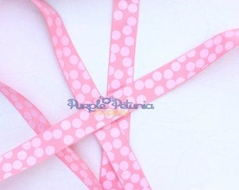 "Glitter ribbon, polka dot ribbon, pink ribbon, pink dot ribbon, silly dots ribbon, grosgrain ribbon, 7/8"" ribbon, printed grosgrain"