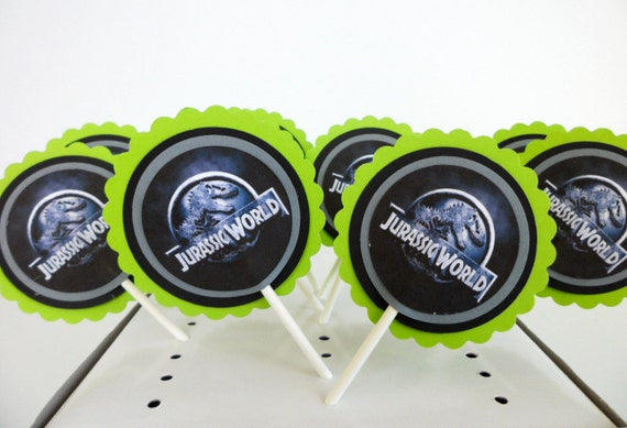 Jurassic World Inspired Cupcake Toppers Cake By