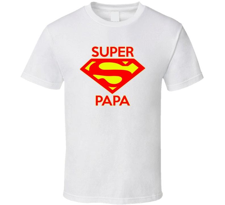 super papa vintage look t shirt super papa grandparent. Black Bedroom Furniture Sets. Home Design Ideas