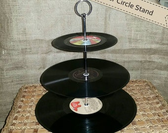 Vinyl 'Record' serving stand - 3 Tier, Retro, Party, Baby shower & Wedding!