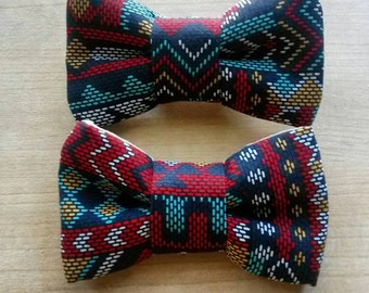 Clip on Bow Tie or Hair Bow Clips for Girls.