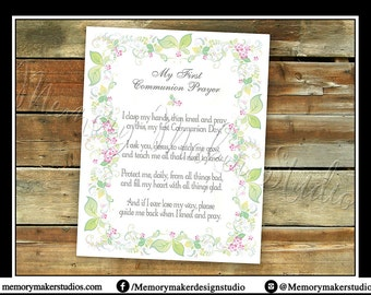INSTANT DOWNLOAD!!! First Communion Prayer, First Holy Communion Prayer Printable, Communion Prayer, Print Your Own