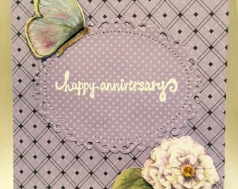 Happy Anniversary Card. Handmade Happy Anniversary card. Handmade Card.