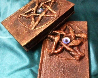 Wiccan Hand Crafted Paper Mache Book of Shadows Blank Journal