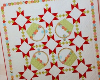 SUNDAY'S BEST Adorable Pieced and Applique Quilt Pattern by Gingham Girls