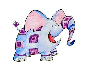Elephant Monster 8x10 Print