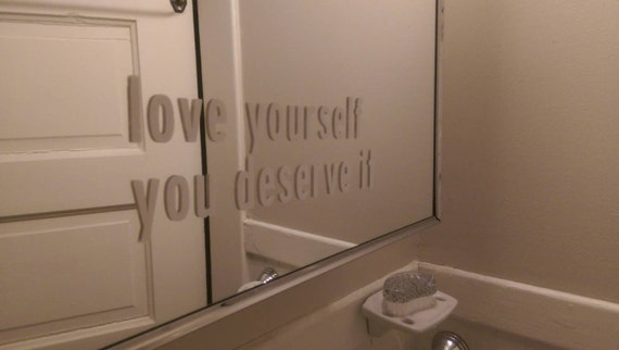 Love Yourself Mirror Decal