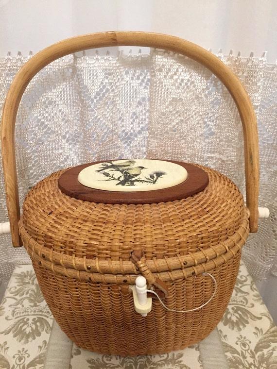 Handmade Nantucket Basket : Awesome vintage s nantucket basket purse by