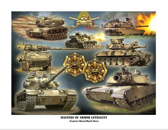 Tank Master Gunner Customizable Signed And Numbered Print