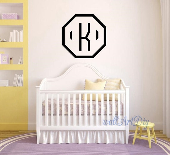 Monogram Wall Decals Intial