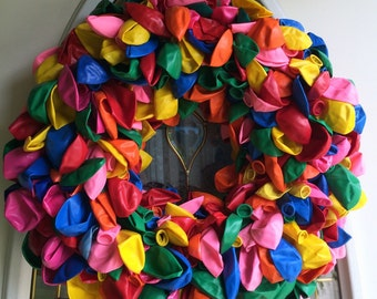 Multicolor Balloon Wreath