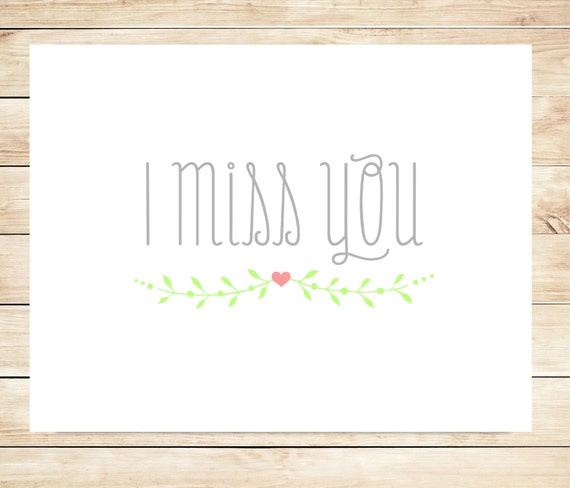Handy image with printable miss you cards