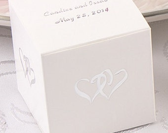 Linked Hearts Wedding Favor Boxes (Pack of 25)