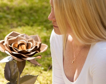 Giant Metal Rose Flower Perfect Handcrafted Steel Rose 11th Anniversary gift proposal wedding decor forever love special unique centerpeice
