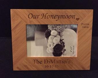 Our Honeymoon 4x6 Frame