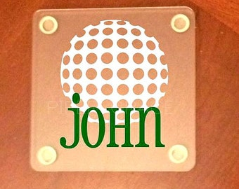 Golf Coasters, Golf Gift Ideas, Golf Gift, Gift Ideas for Him, Gift for Him, Fathers Day Gift Ideas, Fathers Day Gift
