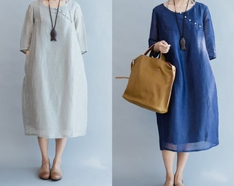 women linen dress/women silk dress/linen dress for women/