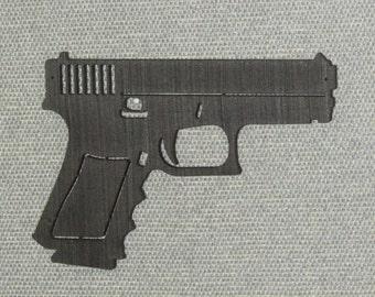 Laser Cut Wood Hand Gun Wall Art Decor