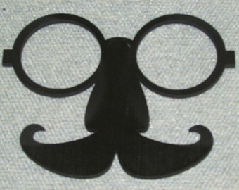 Hipster Glasses Mustache Wood Wall Signs Man Cave Art Steampunk Decor