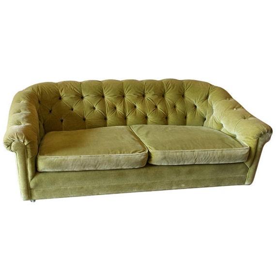 Mid century chesterfield velvet sofa by FabulousandFrench on Etsy