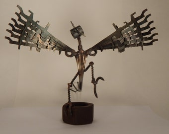 Scrap Folk - Hagar - scrap metal, scrap art, cool gift.