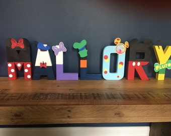 Mickey Mouse Letters, Mickey Mouse Name, Mickey Mouse Clubhouse Letters Name, Disney Name Art