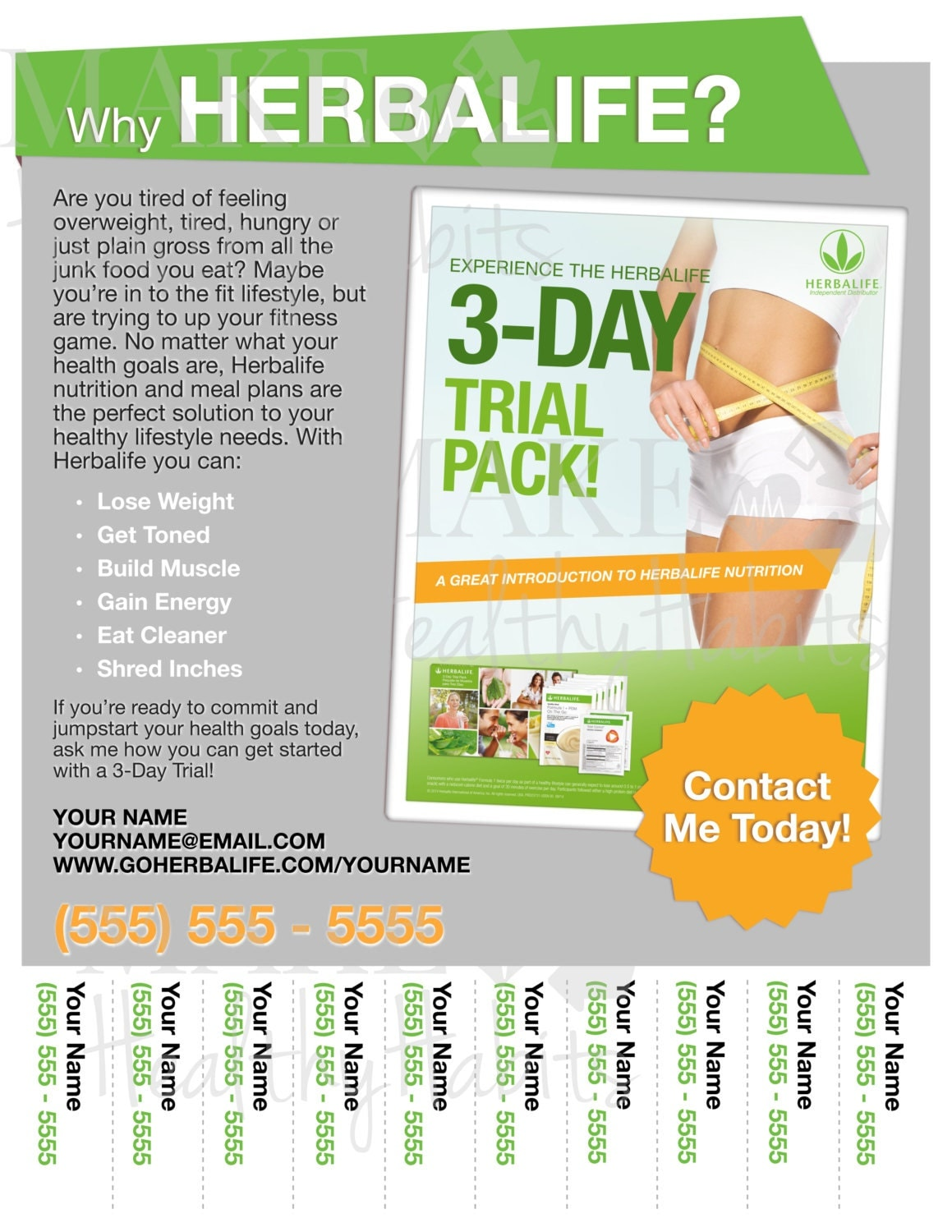 Printable herbalife flyer by kellylynnettedesigns on etsy for Herbalife templates