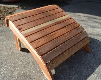 Oversized Adirondack Ottoman / cedar footrest / wood Ottoman / cedar Ottoman / Adirondack chair / Footrest / Wood Footrest