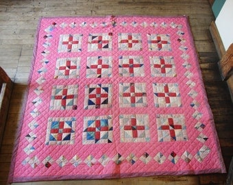 Vintage 1930's Quilt * Hand Quilted* Nice and Warm