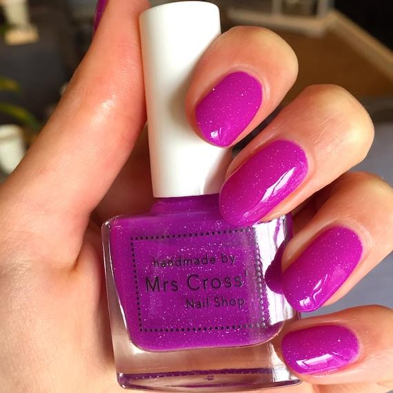 Neon Nail Polish Uk: Leg Warmers 10ml Bright Purple Neon Nail Polish Handmade