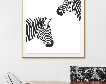 Zebra Wall Art animal wall art | etsy