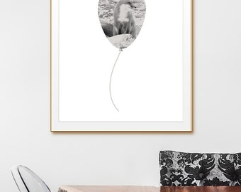 Home Printable, Modern Art Print, Grey Theme Decor. Fox Wall Art. Multiple Sizes, 4x6 5x7 8x10 11x14 12x16 24x30 A2 Greeting Card Printable