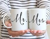 Mr and Mrs Mug - Mr and Mrs Coffee Mug - Mr and Mrs Cups - Mr and Mrs Wedding Gift Bride and Groom Mugs - Wedding Mugs Bride and Groom Gift