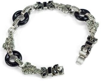 Art Deco Bracelet, 1920s Bracelet, Wedding Bracelet, Asian Bracelet, Deco Bracelet, Art Deco Jewelry, Gatsby Bracelet, Wedding BR404