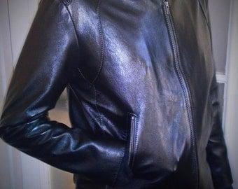 Dark Rider - men's leather pilot jacket (Free shipping)