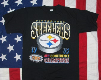Vintage 1995 Pittsburgh Steelers AFC Champs T-Shirt Large