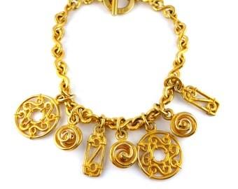 CELINE * Gorgeous massive vintage charm necklace