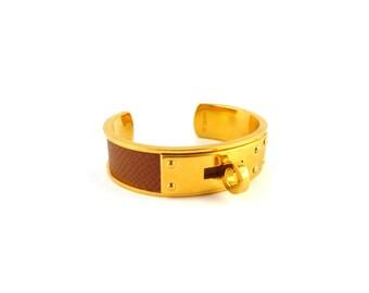 HERMES * Gorgeous vintage KELLY bracelet cuff