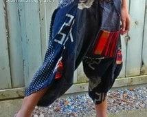 Takeda Samurai Pants (Unisex) SM001a - Black & White colour