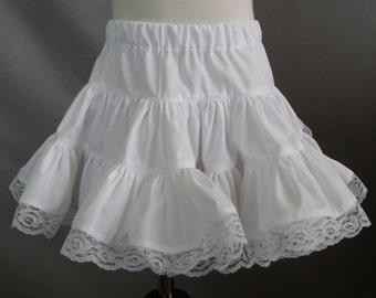 Girls Petticoat, Cotton Petticoat, Toddler Petticoat, Infant Petticoat, 6-12mo, 12-18mo, 2T, 3T, 4T, 5, 6, 7, 8 , 10, 12 Made to Order