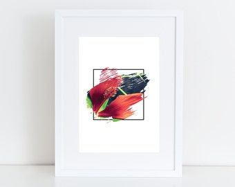 Red flower  - Photography Printable art , Instant download