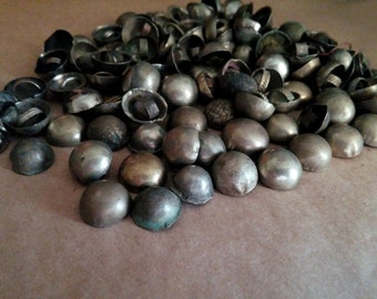 50 Vintage Little Turkoman Buttons Tribal Turkmen Metal Shank Smooth Dome Small Buttons