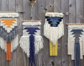 MADE TO ORDER // Woven wall hanging // handwoven tapestry weaving art // Custom colors available