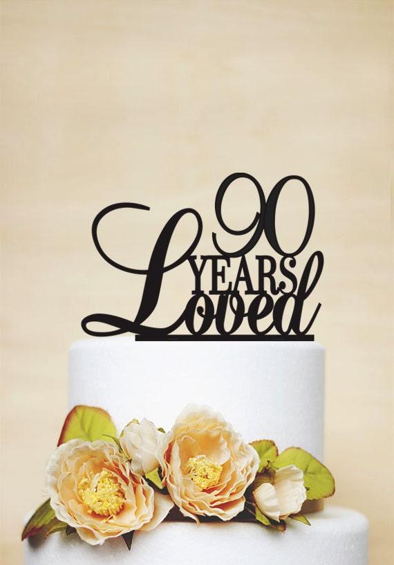 90th Anniversary Cake Topper90th Birthday Cake TopperCustom