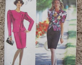 UNCUT Misses' Suit-Dress - Size 16 to 24 - Simplicity 7100 - Vintage 1990