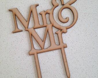 Mr & Mr Wooden Cake Topper, Wedding Cake Topper (Australia)